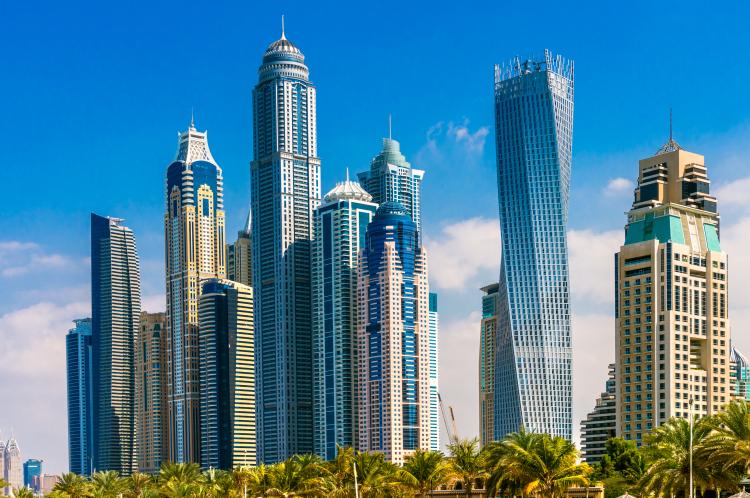 Skyline fra Dubai Marina