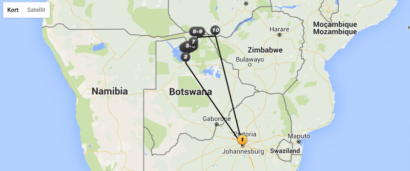 Temarejse til Botswana