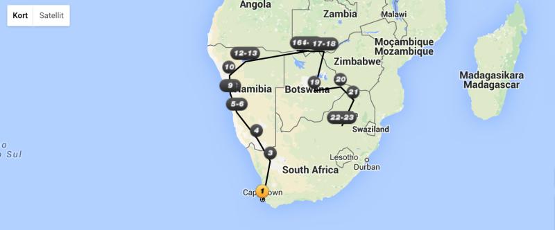 Temarejser i Afrika
