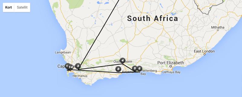 Temarejse i Sydafrika