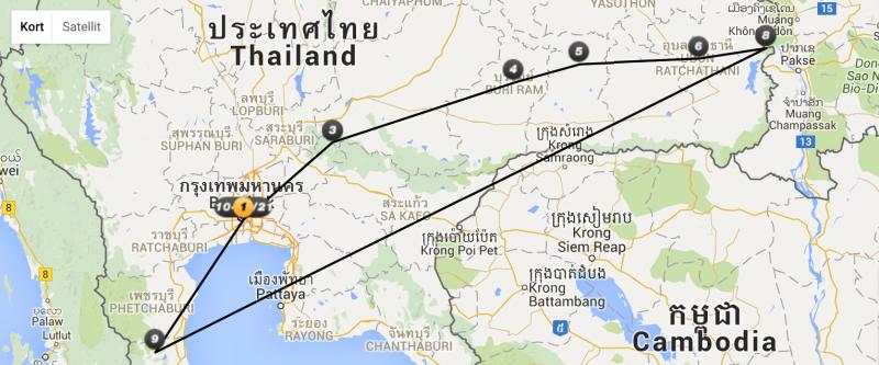 temarejser i Thailand