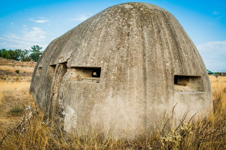 Bunker ved Korinthkanalen