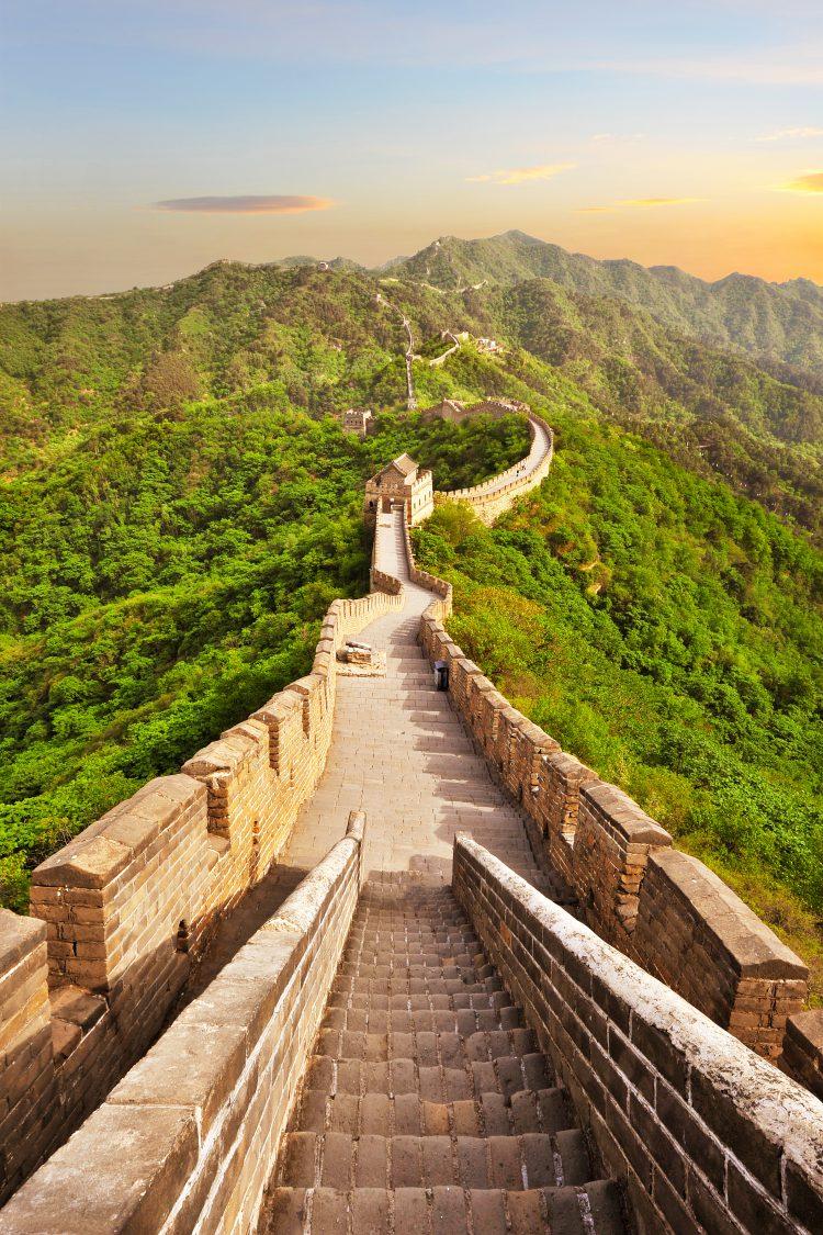 I Kina bygger man mure omkring alt, både byer, huse og lande